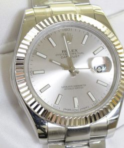 ساعة رولكس ديت جست بالتاريخ أرضيه لون أبيض للرجال مقاس 41
