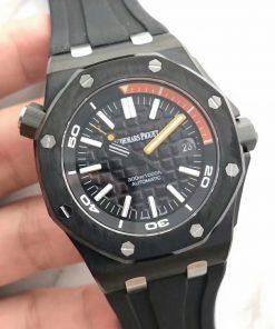 ساعة تقليد أوديمارز بياجيه إطار أسود بأرضية لون أسود للرجال مقاس 42