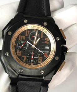 ساعة أوديمارز بياجيه تقليد إطار أسود بأرضية لون أسود للرجال مقاس 48